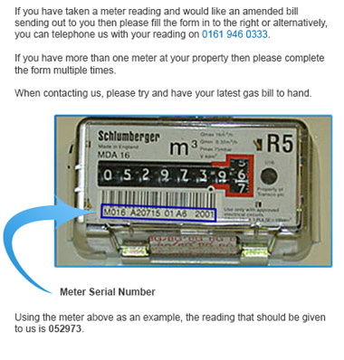 where to find gas meter serial number